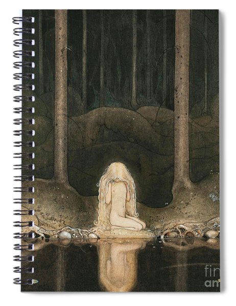 Princess Tuvstarr Looking At The Water Of The Lake With Nostalgia Spiral Notebook