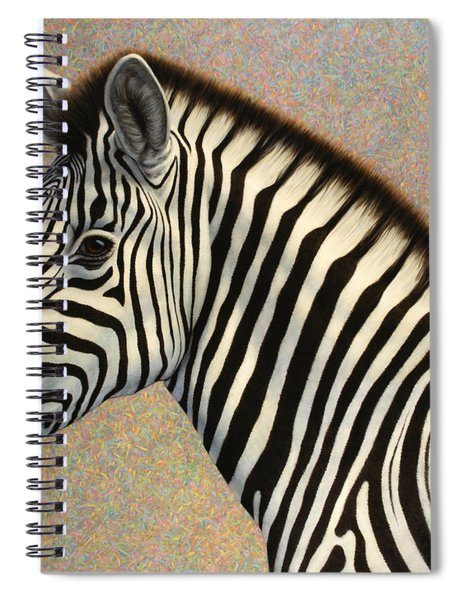 Spiral Notebook featuring the painting Principled by James W Johnson