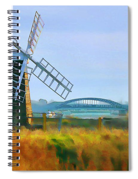 Priory Windmill Spiral Notebook