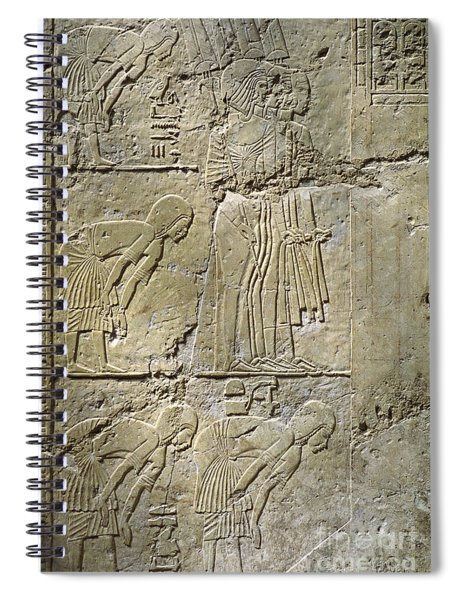 Private Tombs -painting West Wall Tomb Of Ramose T55 - Stock Image - Fine Art Print - Thebes Spiral Notebook