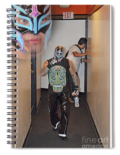 Pro Wrestling Legend Rey Mysterio On His Way To The Ring Spiral Notebook