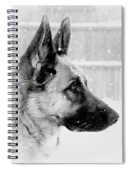 Profile Of A German Shepherd Spiral Notebook
