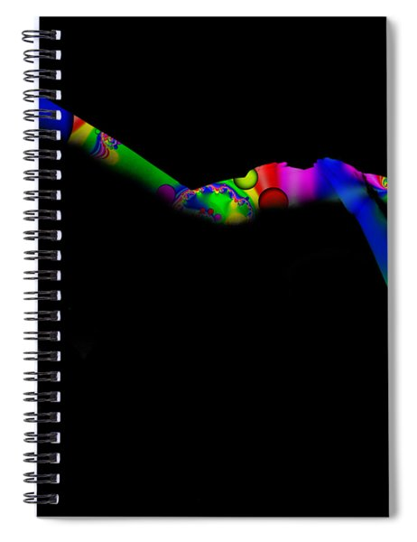 Projected Body Paint 2094947a Spiral Notebook