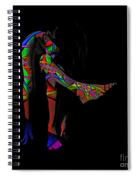 Projected Body Paint 2094973a Spiral Notebook