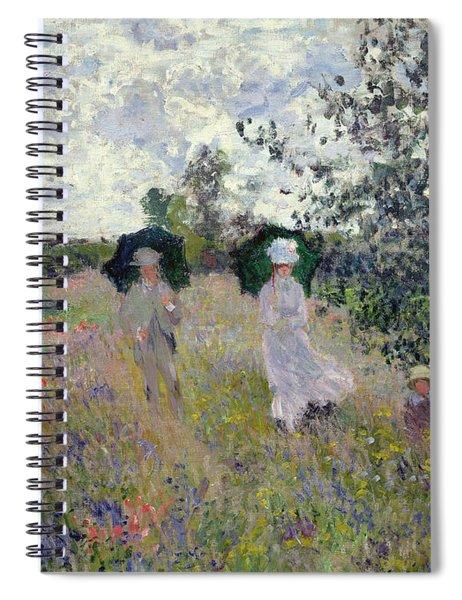 Promenade Near Argenteuil Spiral Notebook