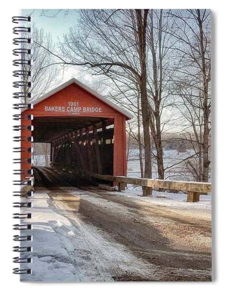 Spiral Notebook featuring the photograph Protected Crossing In Winter by Andrea Platt