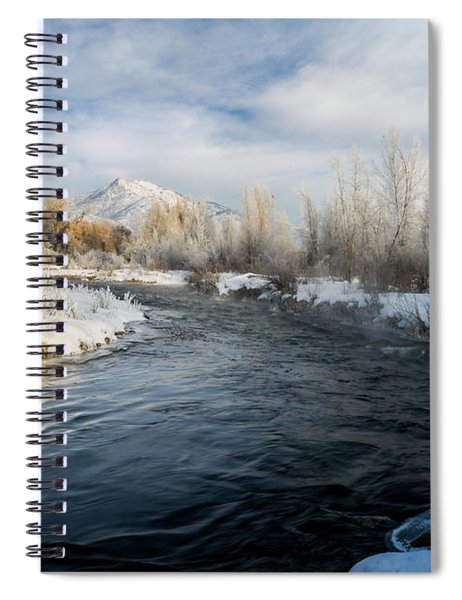 Provo River In Winter Spiral Notebook