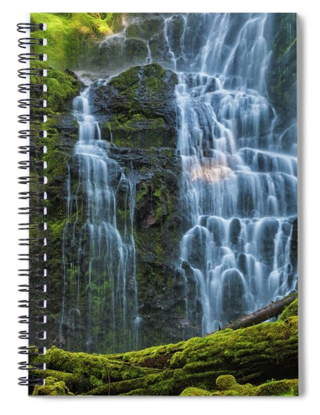 Proxy Falls Dappled In Light Spiral Notebook