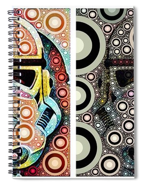 Psychedelic Binom Spiral Notebook