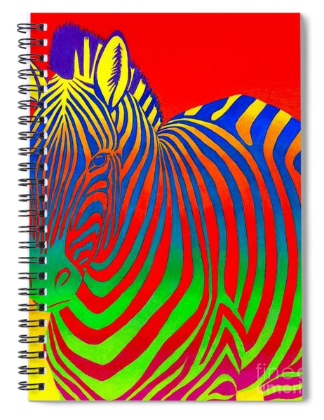 Psychedelic Rainbow Zebra Spiral Notebook