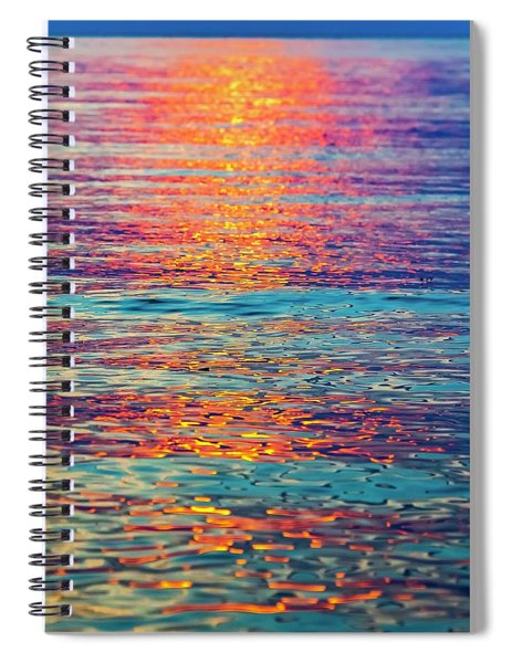 Psychedelic Sunset Spiral Notebook