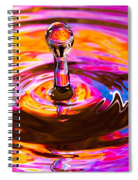 Psychedelic Water Drop Spiral Notebook