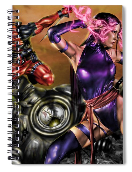Psylocke And Deadpool Spiral Notebook