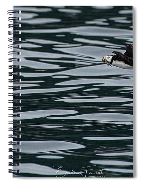 Puffin With Dinner Spiral Notebook