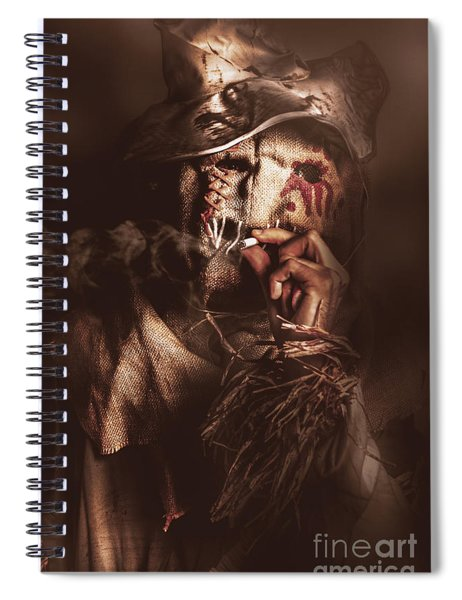 Puffing Billy The Smoking Scarecrow Spiral Notebook
