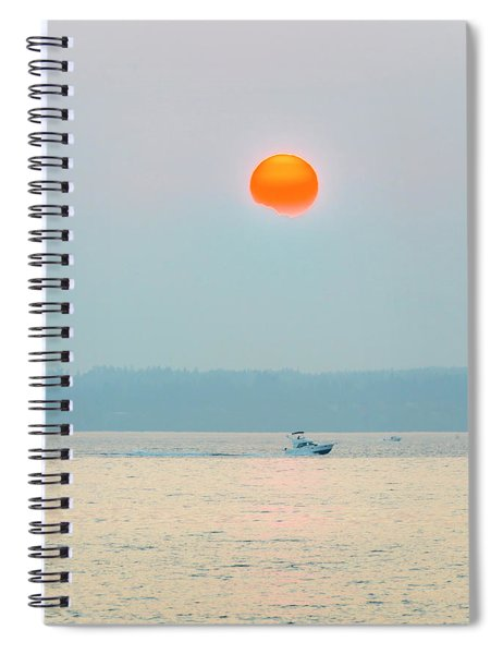 Puget Sound Under The Heavy Smoke Spiral Notebook