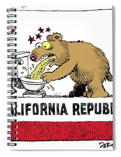 Puke Politics Spiral Notebook
