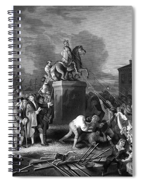Pulling Down The Statue Of George IIi Spiral Notebook