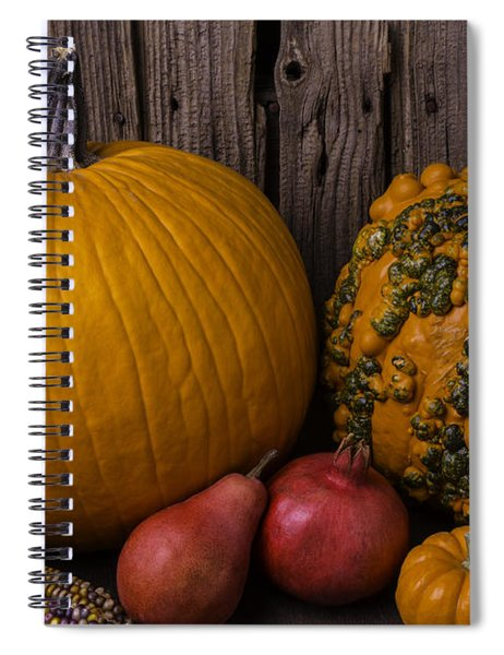 Pumpkin Autumn Still Life Spiral Notebook