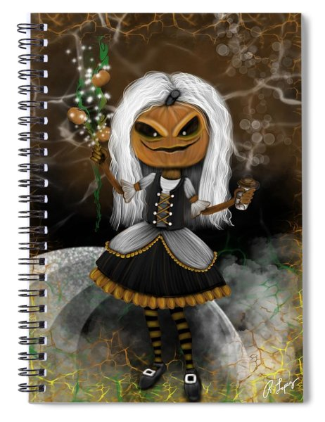 Pumpkin Spice Latte Monster Fantasy Art Spiral Notebook