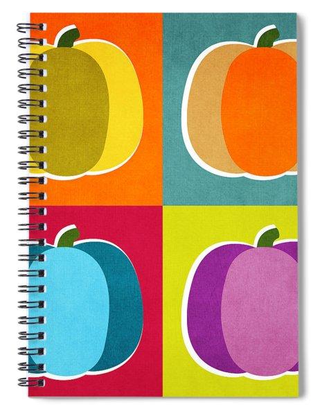 Pumpkins- Pop Art By Linda Woods Spiral Notebook