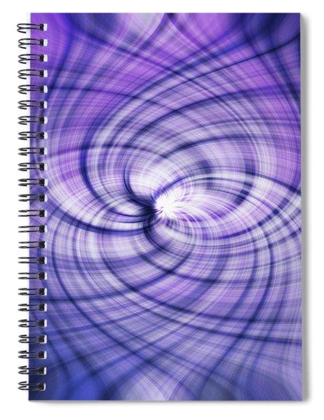 Purlple Vortex Spiral Notebook