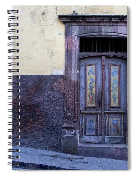 Purple And Blue Door Mexico Spiral Notebook