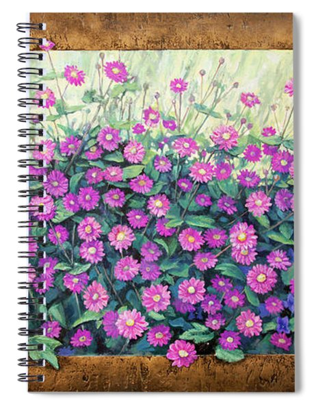 Purple And Pink Flowers Spiral Notebook