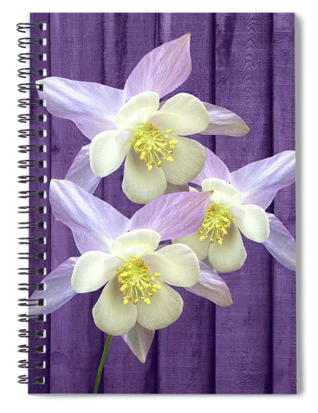 Purple Aquilegia Spiral Notebook