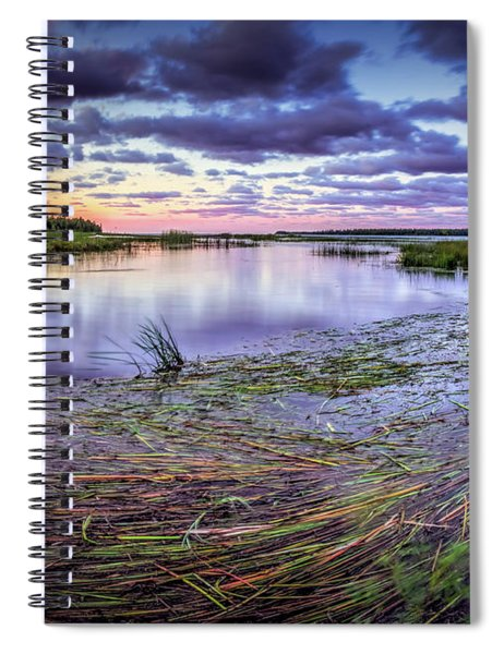 Purple Bay Spiral Notebook