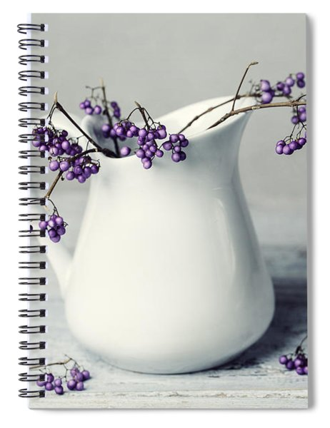 Purple Berries Spiral Notebook