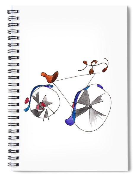 Purple Bicycle Spiral Notebook