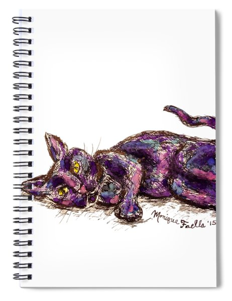 Purple Cat Spiral Notebook