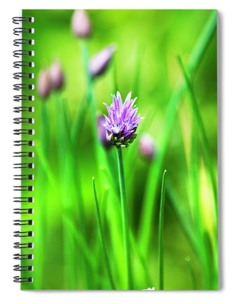 Purple Chives Spiral Notebook