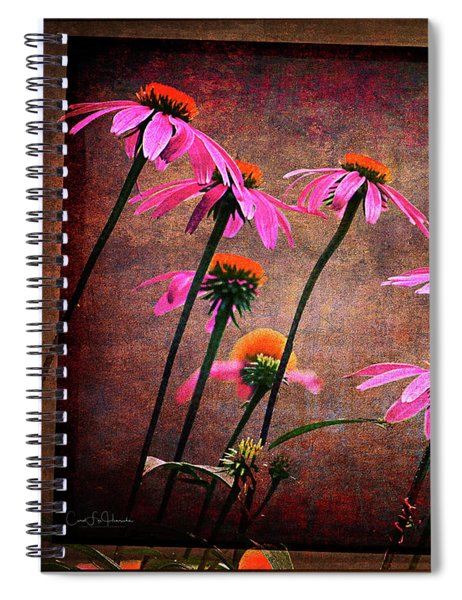 Purple Coneflowers Out Of Alignment  Spiral Notebook
