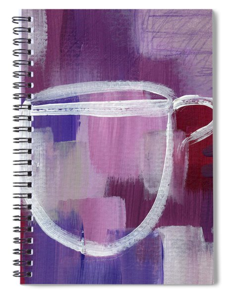 Purple Cup- Art By Linda Woods Spiral Notebook