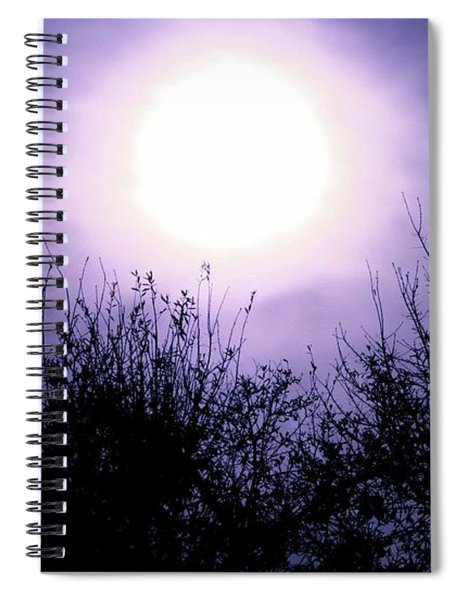 Purple Eclipse Spiral Notebook