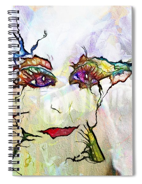 Purple Eyed Nymph Spiral Notebook