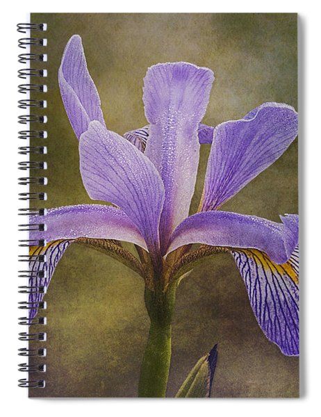 Spiral Notebook featuring the photograph Purple Flag Iris by Patti Deters