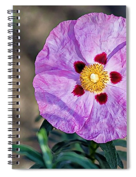 Purple Rockrose Spiral Notebook