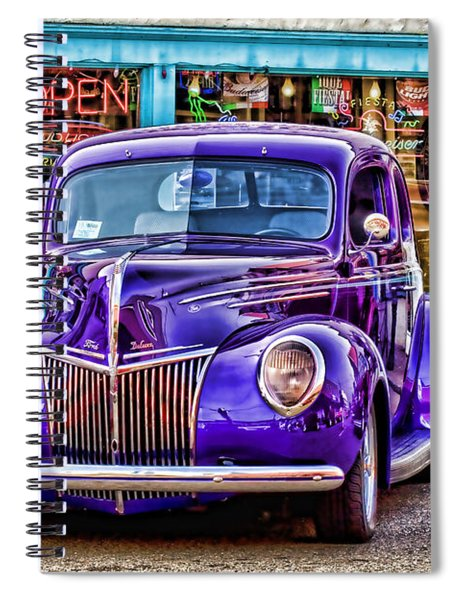 Purple Ford Deluxe Spiral Notebook
