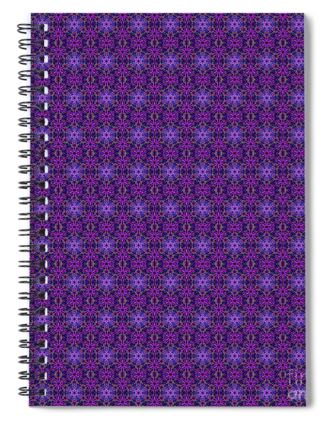 Purple, Green And Blue Repeating Mandala Pattern Spiral Notebook