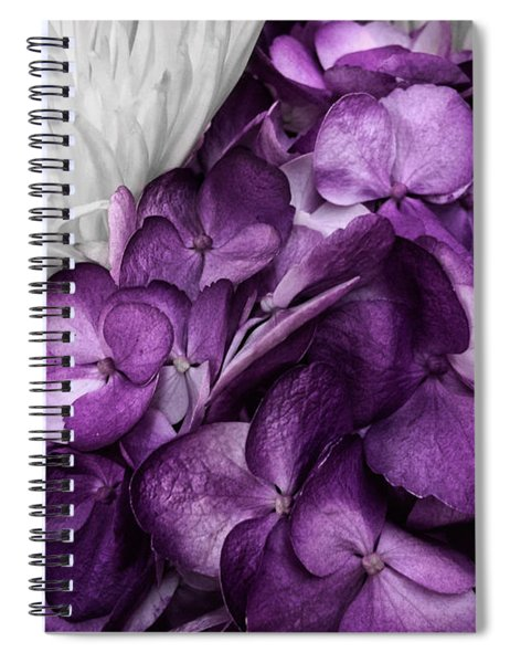 Purple In The White Spiral Notebook