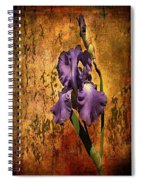 Purple Iris At Sunset Spiral Notebook