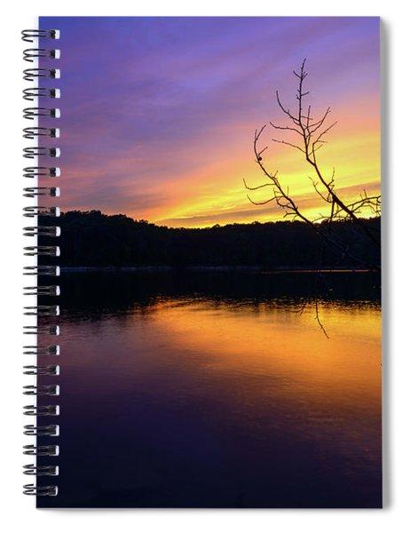 Purple Lake Spiral Notebook