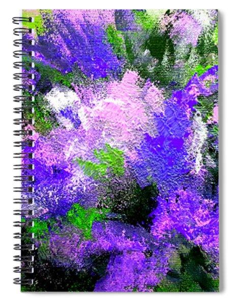 Purple Lilacs Spiral Notebook