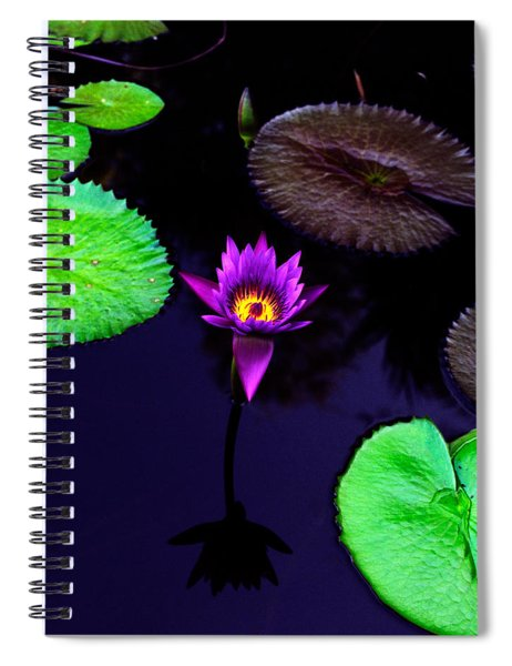 Purple Lily Spiral Notebook