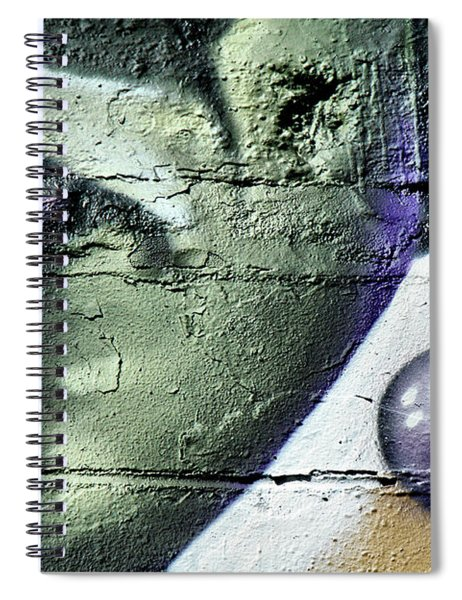 Purple Lips And Earring Spiral Notebook