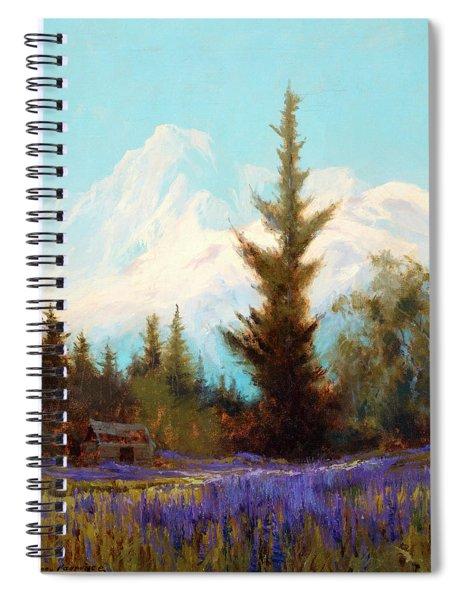 Purple Lupin, Near Juneau Spiral Notebook