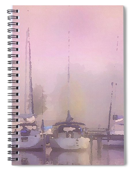 Purple Marina Morning Spiral Notebook